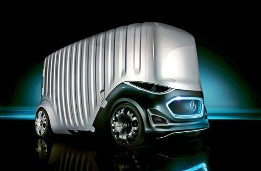 Der fahrerlose Van bietet mehr Platz für Paletten oder Pakete. Foto: Daimler