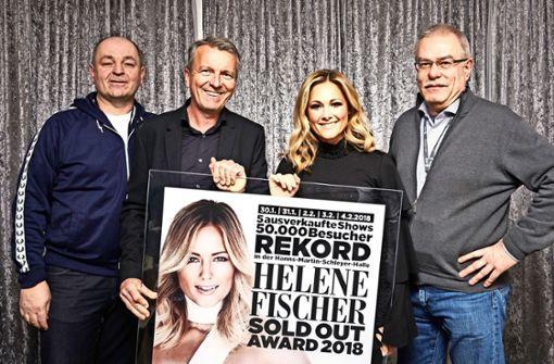 Helene Fischer wird für neuen Rekord in der Schleyerhalle geehrt