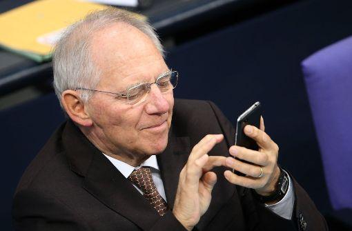Proteste gegen Twitterverbot von Wolfgang Schäuble