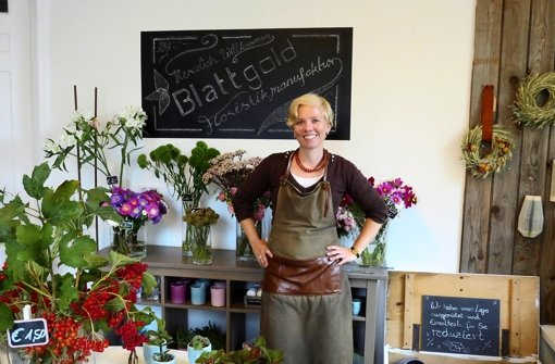 Nina Seemann und ihre Floristikmanufaktur Blattgold nimmt zum zweiten Foto: red