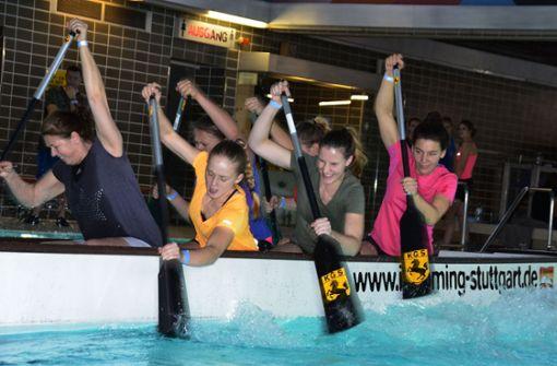 Tauziehen  auf dem Wasser
