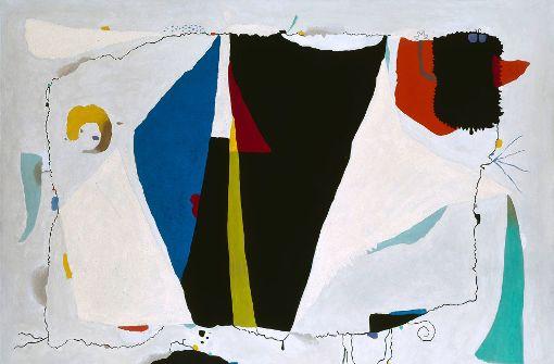 Willi Baumeister, Monturi mit blauem Dreieck, 1954 Foto: Archiv Baumeister im Kunstmuseum Stuttgart, VG Bild-Kunst, Bonn 2017
