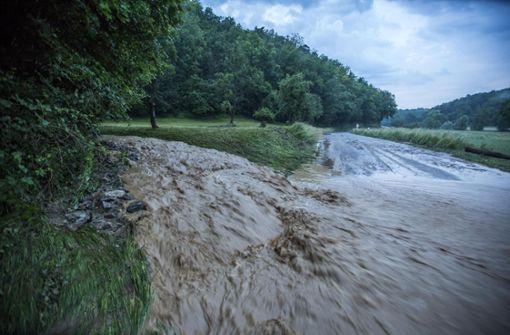 An manchen Stellen war die Strömung flussähnlich.  Foto: 7aktuell.de/Simon Adomat