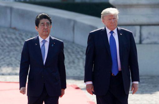 Trump und Abe üben weiter Druck auf Nordkorea aus