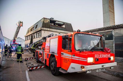 Dachstuhl gerät in Brand