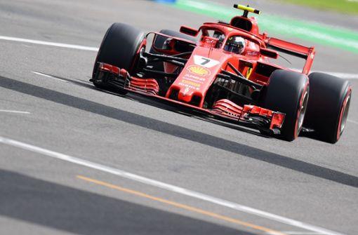 Räikkönen fährt in Monza vor Vettel auf Pole Position