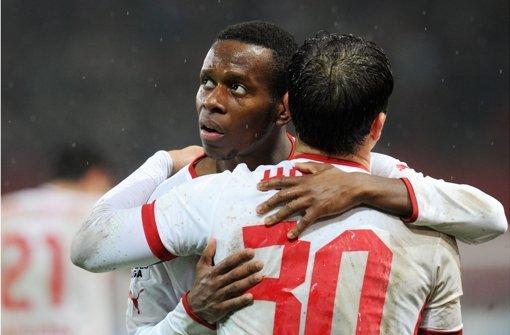 """""""Es war eine komische Situation"""", sagt Traoré über seinen Treffer zum 1:0. Foto: dpa"""