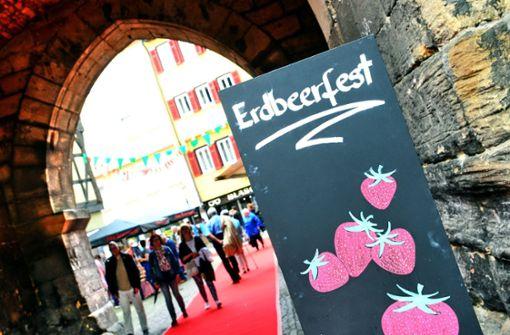 Das Erdbeerfest lockt viele Gäste in die östliche Altstadt Foto: 7aktuell.de/