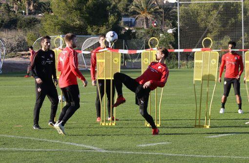 Als Belohnung für die gute Performance der letzten Tage gab es am Nachmittag unter anderem eine Runde Fußballtennis. Foto: Pressefoto Baumann
