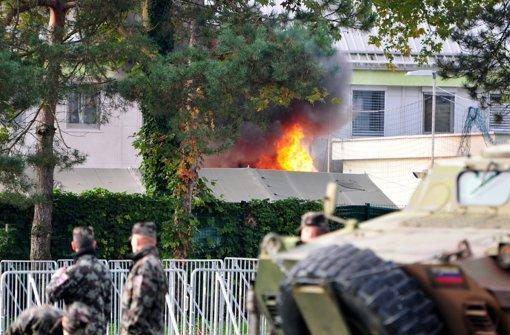 Slowenien: Brand in Flüchtlingslager