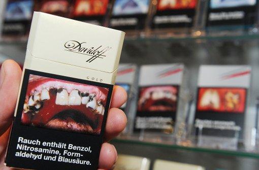 Abschreckung auf Zigarettenschachteln verzögert sich in der Praxis