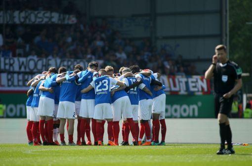 Der Zweitliga-Dritte schwört sich auf die Relegation gegen den VfL Wolfsburg ein. Foto: Getty