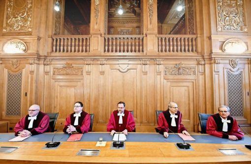 Der 7. Senat des Bundesverwaltungsgerichts unter dem Vorsitz von Andreas Korbmacher (Mitte) hat sein Urteil gesprochen. Foto: AP