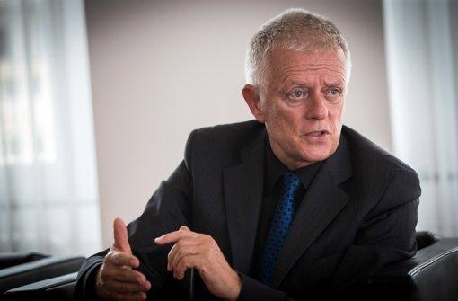 Fritz Kuhn spricht sich gegen den Kurs von verkehrsminister Winfried Hermann aus Foto: Lichtgut/Achim Zweygarth