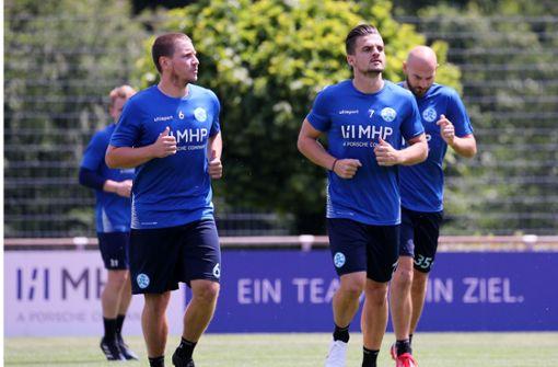 Im Training mit Sebastian Schaller (re.) Foto:  Baumann