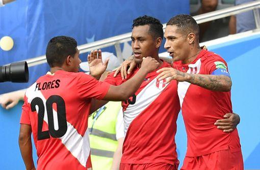 Peru feiert einen 2:0-Sieg gegen Australien. Foto: AP
