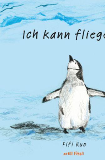 bFifi Kuo: Ich kann fliegen!/b Aus dem Englischen von Seraina Maria Siev. Ab 4 Jahren. Ein kleiner Pinguin gibt sich mächtig Mühe, fliegen zu lernen. Charmante Kreidezeichnungen zeigen, wie sein Traum anders als gedacht wahr wird. Manchmal muss man einfach nur die Perspektive wechseln. (hoc) Foto: Verlag Orell Füssli. 32 Seiten. 14,95 Euro.
