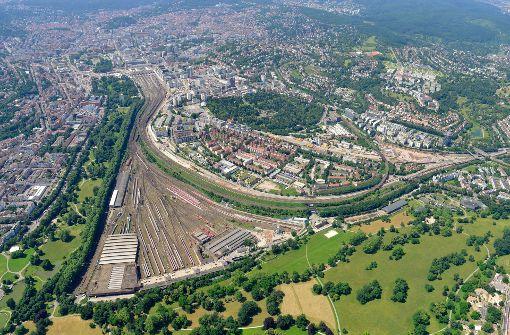 Hier kann was Neues entstehen: das Areal des künftigen Rosensteinviertels Foto: DB Bahnprojekt Stuttgart Ulm