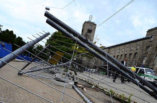 Spuren des Protests: Am 20. Juni 2011 stürmten S-21-Gegner die Baustelle. Foto: dpa