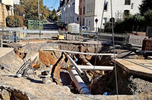 Baustelle: Ein Drunter und Drüber an Leitungen