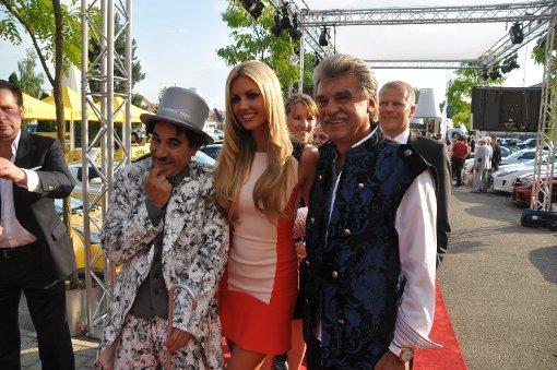 Christof Sage mit Rosanna Davison, Miss World 2008. Foto: Fotoagentur Stuttgart
