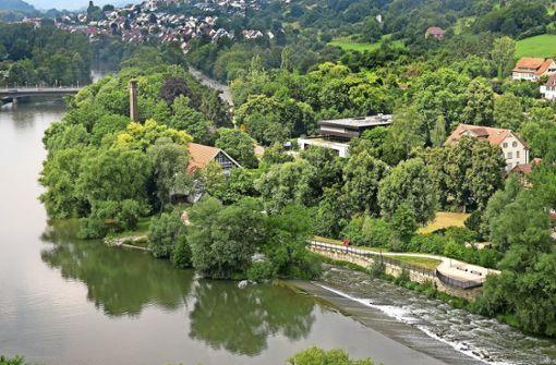 Der Bereich zwischen der früheren Fabrik Melchior und der Fischtreppe ist ein Zankapfel. Soll dort ein Hotel entstehen oder nicht? Darüber wird heftig gestritten. Foto: Horst Rudel