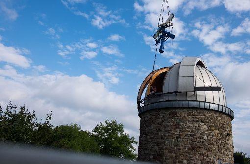 So kehrt das Teleskop zurück in die Sternwarte