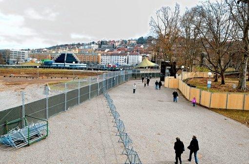 Im Schlossgarten schlummern noch immer Blindgänger im Untergrund Foto: dpa