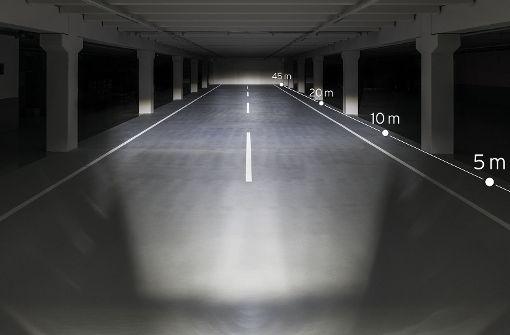 Mit 80 Lux ist der Lichtkegel bereits um einiges breiter.  Foto: Busch+Müller