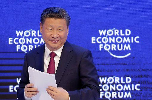 Chinas Präsident spielt Führer der Welt
