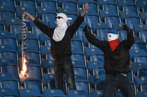 Der Kampf in deutschen Fußballstadien