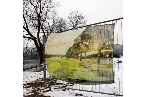 Ein Bauzaun sperrt das Foto: Ströbele