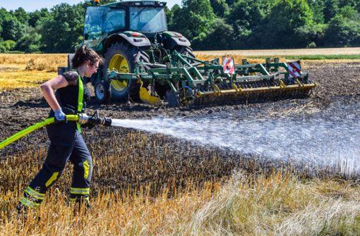 Funke setzt 10.000-Quadratmeter-Feld in Brand
