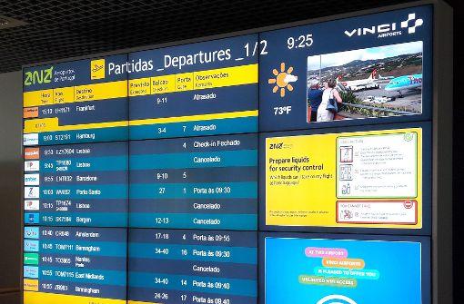 Chaos auf Flughafen Funchal durch starke Winde
