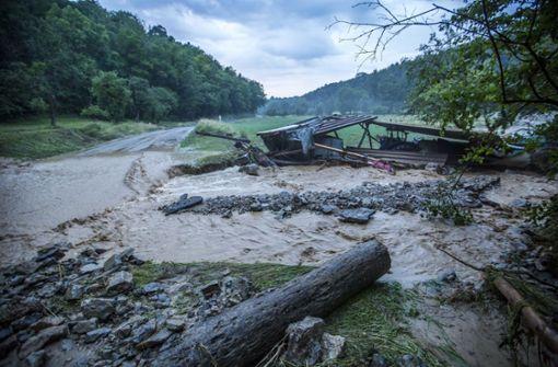 Das Unwetter hat am Freitag in Baden-Württemberg für erhebliche Schäden und Verkehrsbehinderungen gesorgt.  Foto: 7aktuell.de/Simon Adomat
