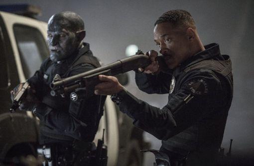 Will Smith (rechts) und Joel Edgerton gehen zusammen auf Verbrecherjagd. Foto: Netflix