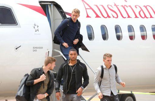 Das DFB-Team kommt im Trainingslager an