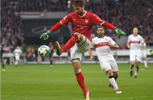 Ron-Robert Zieler hat sich eine gute Note verdient. Sehen Sie in unserer Bildergalerie, wie unsere Redakteure die Leistung der VfB-Spieler bewerteten. Foto: dpa