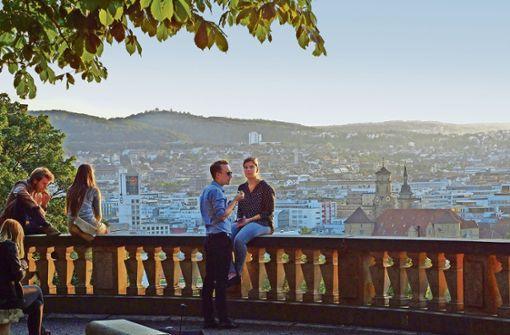 Der Eugensplatz ist nicht nur bei   Spaziergängern beliebt. Foto: Patrick Mikolaj