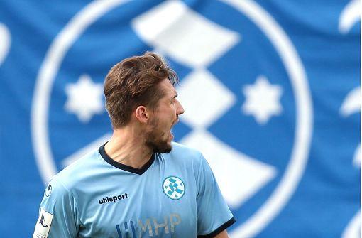 Kehrt möglicherweise erstmals nach seiner Verletzungspause auf die Bank zurück: Kickers-Torjäger Mijo Tunjic. Foto: Baumann