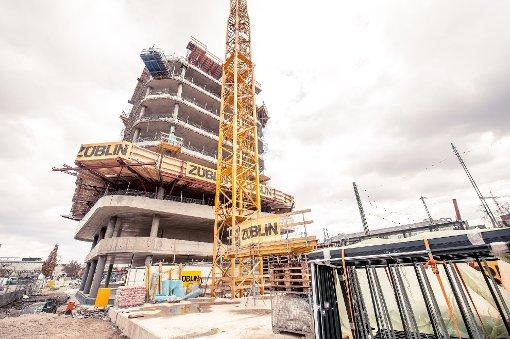 Sky-Hochhaus in Bietigheim wächst