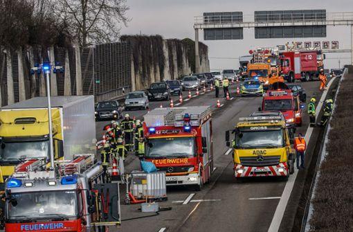 Unfallserie auf der Autobahn 81