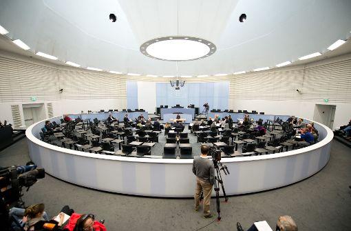 Zeugenbefragung im ersten NSU-Ausschuss des Stuttgarter Landtags. Foto: dpa
