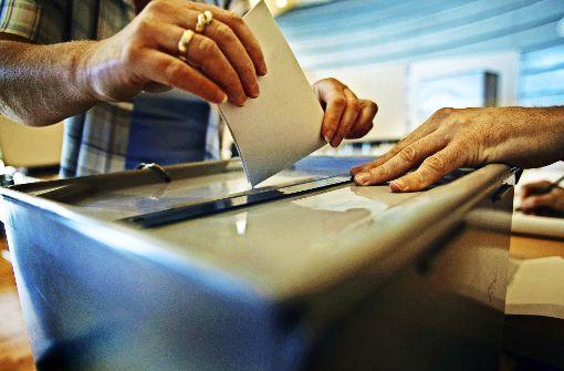 Zwei Kleinbusse als mobile Wahlurnen
