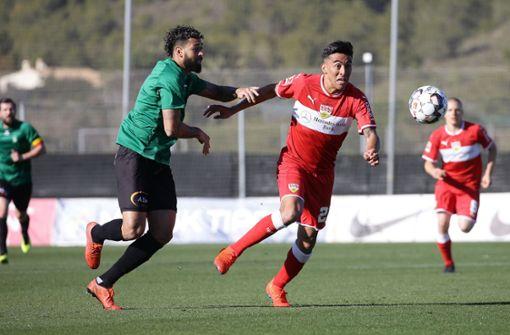 Voller Einsatz bei Nicolas Gonzalez im Spiel gegen Cercle Brügge Foto: Pressefoto Baumann