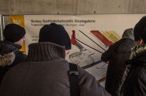 Der Neubau der Stadtbahnhaltestelle Staatsgalerie interessierte die Besucher besonders. Foto: Lichtgut/Max Kovalenko