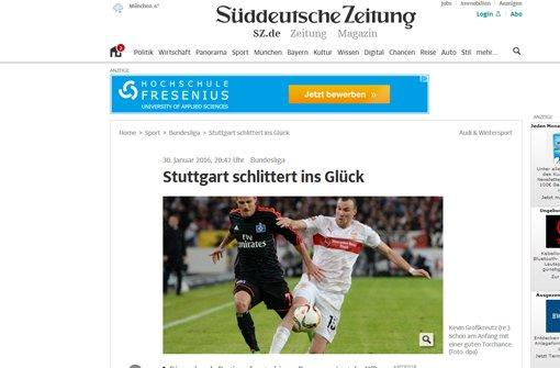 Die Süddeutsche Zeitung spricht von einer packenden Partie auf rutschigem Untergrund.  Foto: Screenshot red