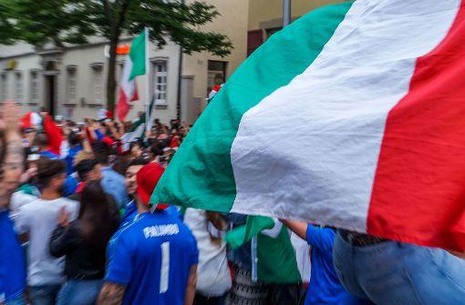 Italienische Fans (hier im Jahr 2016 in Ludwigsburg) Foto: SDMG