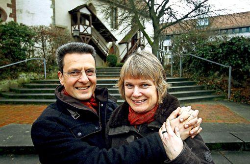 Pfarrer in Ditzingen: Burkhard Frauer und seine Frau Judith Reinmuth-Frauer Foto: FACTUM-WEISE