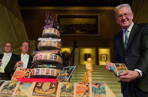 Kretschmann ehrt Hollywood-Erfinder mit 150-Pfund-Torte